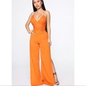 How lovely Lace jumpsuit - NWOT!!